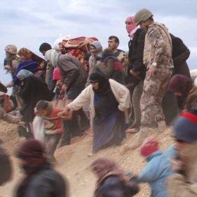 Syrian refugees crossing into Jordan<span></span>