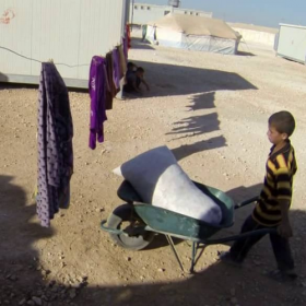 Zaatari refugee camp, story of Abdallah, GoPro trilogy I.<span></span>