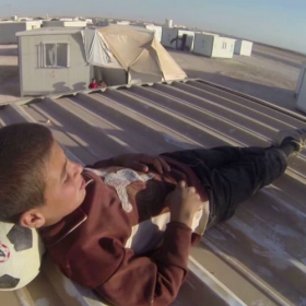 Zaatari refugee camp, story of Abdallah, GoPro trilogy III.<span></span>