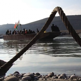 Refugees fleeing war and prosecution while crossing the River Tigris in the Kurdistan Region of Iraq<span></span>